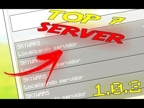 TOP 7 SERVIDORES PARA MINECRAFT PE 1.0.2