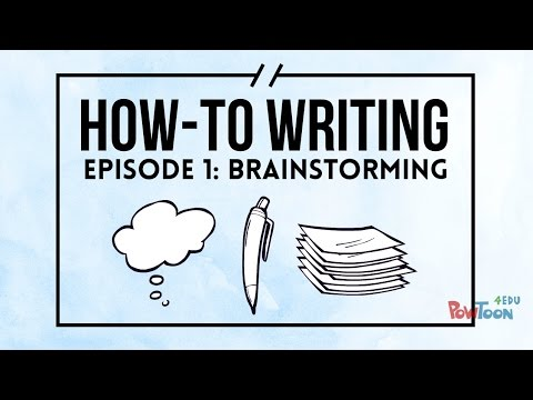 How-To Writing For Kids | Episode 1 | Brainstorming
