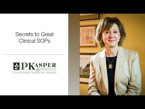 Secrets to Great Clinical SOPs