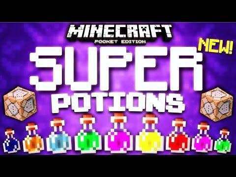 Minecraft Pocket Edition - Command Block SUPER POTIONS! [Minecraft PE 1.1 compatible]
