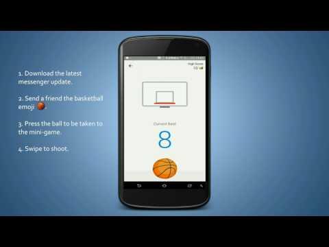 Hidden Secret Facebook Messenger Games -  How to play basketball secret game!