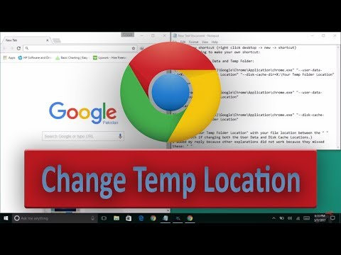 How To Change The Temporary Internet Files Location In Google Chrome In English