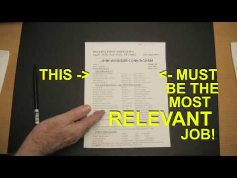 HOW ACTORS SHOULD WRITE A RESUME  (Acting Coaches NYC)