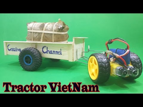How To Make A RC Car - Tractor VietNam