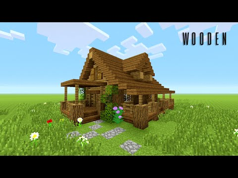 MINECRAFT: How to build wooden house (Rustic)