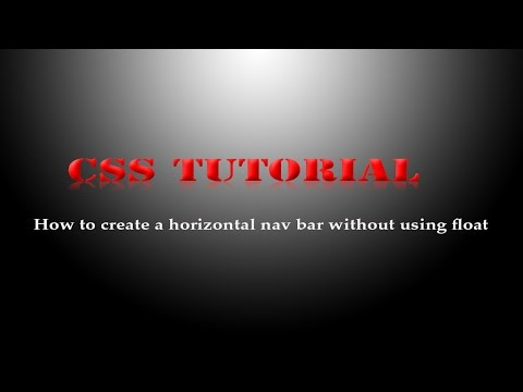 How to create a horizontal nav bar without using float | HTML and CSS Tutorial