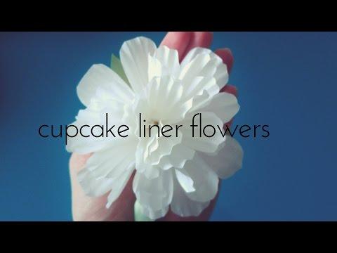 Cupcake Liners Flowers- 2 minute DIY