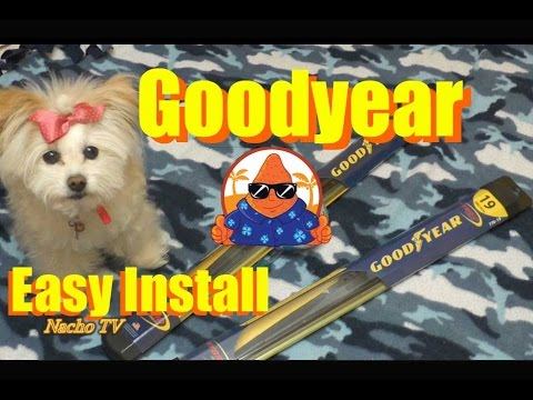Costco Goodyear Wiper Blades How To Replace Windshield Wipers Blades Easy install - NachoTV