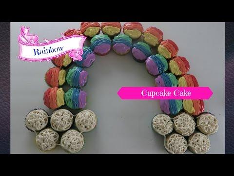 ✿‿✿ How to make a Rainbow Cupcake Cake