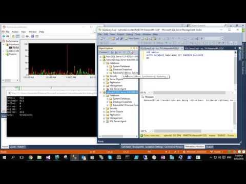 SQL Server Mirroring Failover in Action