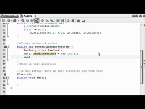 Java Game Programming for Beginners - #16 - Creating Basic AI (Part 1)