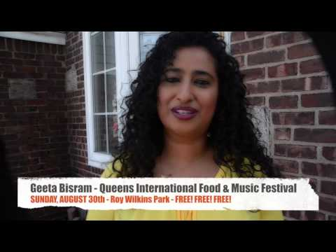 GEETA BISRAM LIVE Queens Int'l Food & Music Festival - Aug. 30th- Roy Wilkins Park - FREE FREE FREE
