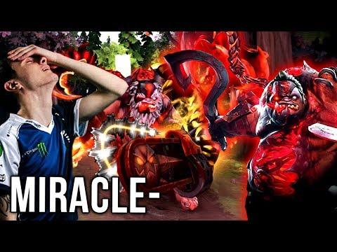 Miracle- Pudge Arcana - Better than Dendi?! Amazing Gameplay Dota 2