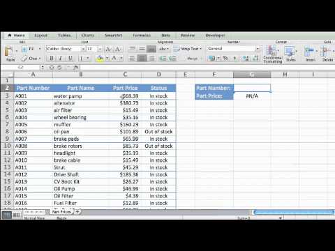 Lesson 1 - Introduction to VLOOKUP