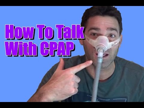 How To Talk With CPAP On. The Internal Plug Your Nose Thingy. FreeCPAPAdvice com