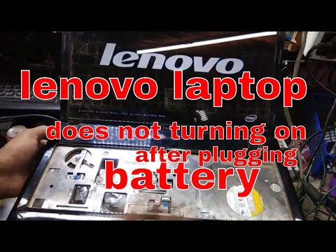 lenovo g580 laptop not turning on after plugging the battery