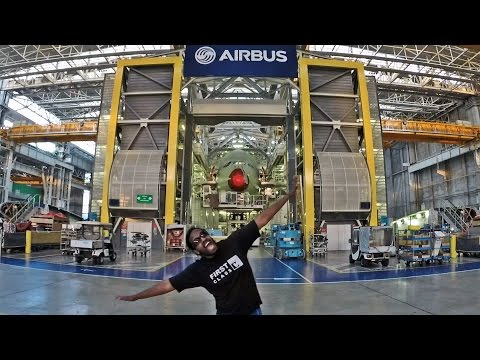 The Airbus Factory Tour: Wilbur Sargunaraj in Toulouse