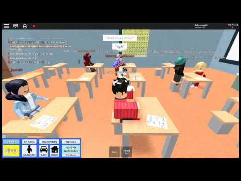 Roblox: First day in highscool! Girl likes me!!