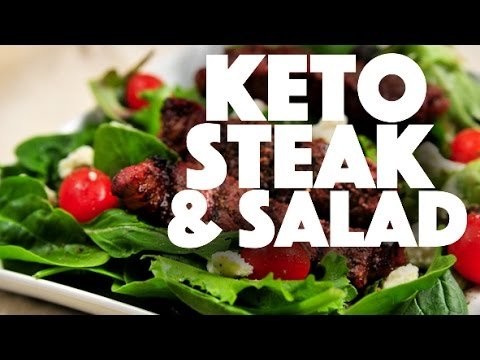 Keto Diet Steak and Salad Recipe - low carb - ketogenic diet - ketosis - keto recipes - weight loss