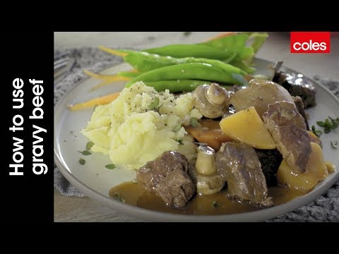 How to use gravy beef with Mal the Coles butcher