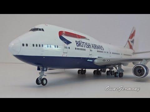 British Airways Boeing 747 G-BYGE 1/200 Gemini Jets UnBoxing + Drooling