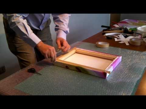 How to stretch a canvas print on Stretcher Bars