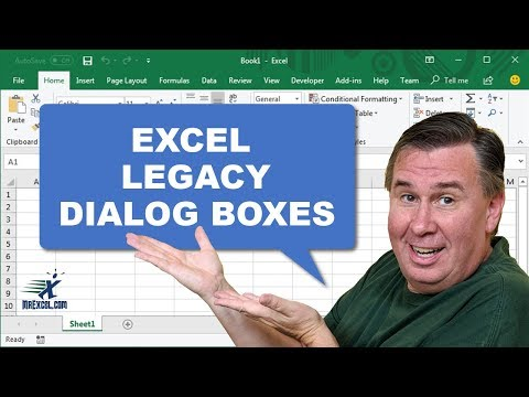 Excel In Depth - Legacy Dialog Boxes: #1225