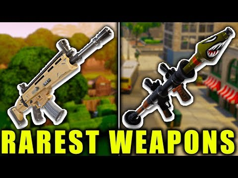5 RAREST WEAPONS TO GET in FORTNITE! (Fortnite Battle Royale)
