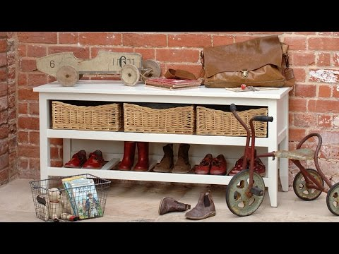 Livingston Ivory Painted Shoe Console - PineSolutions