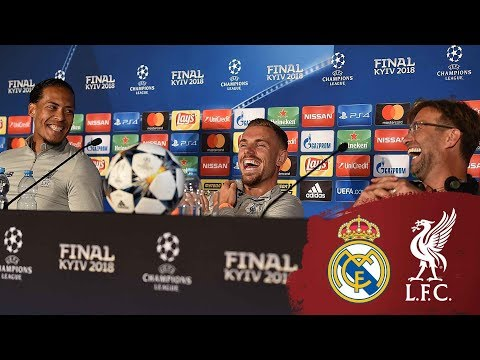 Klopp, Henderson & Van Dijk's Champions League press conference from Kiev | Real Madrid