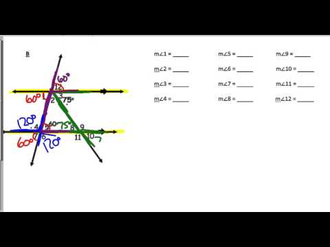 Geometry SLO WS #13 - Angles in Parallel Lines