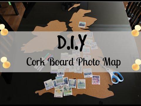 DIY Cork Travel Photo Map | LOCKTHEMAP