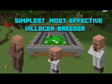 Tutorial: Most Simple and Effective Villager Breeder in Minecraft 1.12+