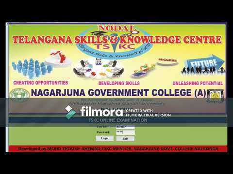 Online Examination Project through MS Access