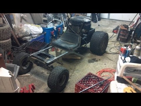 Go Kart Mower part 2 : Frame and Steering first attempt