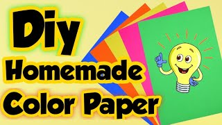 Diy Homemade Color Paper - How to make color Craft paper at home | Diy Colored paper making at home.