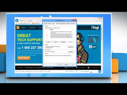 How to block or allow all cookies in Internet Explorer® 10 on your Windows® 8 PC