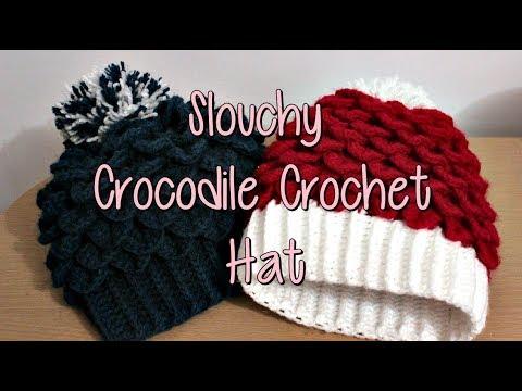 Crocodile Crochet Slouchy Hat