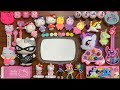 Unicorn Slime And Hello Kitty Mixing Random Things Into Glossy Slime Satisfying Slime Videos