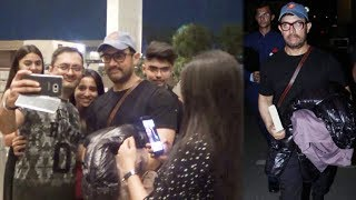 Aamir Khan Mobbed By FANS At Mumbai Airport For Selfies
