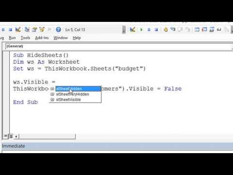 Hide Multiple Sheets in Excel VBA - ExcelVbaIsFun Quick Tips