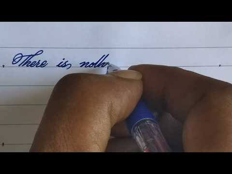 How to write beautiful handwriting with pen | handwriting like printed l satisfying Calligraphy