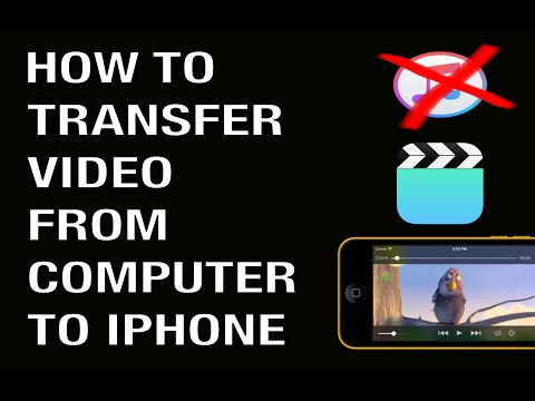 HOW TO TRANSFER VIDEO FROM COMPUTER TO IPHONE