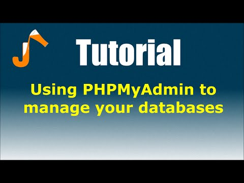 CPanel Tutorials: Using PHPMyAdmin to manage your databases