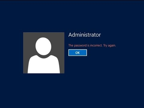 How to Reset Administrator Password Windows 2012