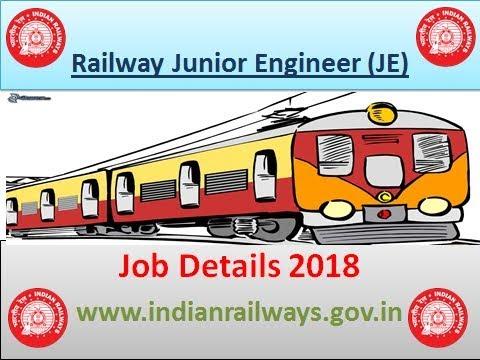 Railway Junior Engineer Job Details 2018