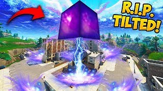 CUBE *DESTROYS* TILTED TOWERS BUILDING! - Fortnite Funny Fails and WTF Moments! #326