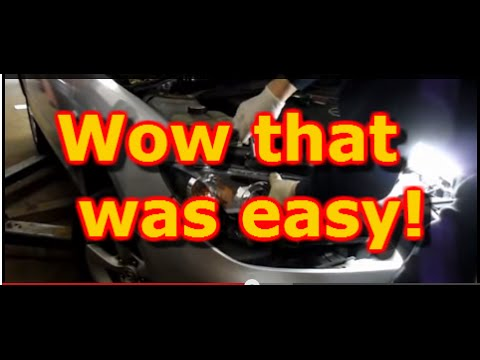HOW TO REPLACE THE HEADLIGHT ASSEMBLY ON A 2005 MAZDA 3