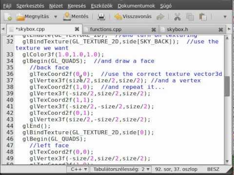 FPS game (OpenGL,SDL,C++) tutorial 10 - skybox class
