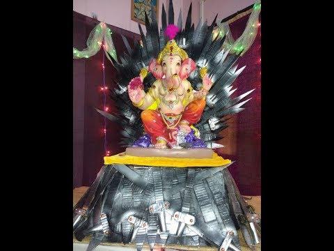 Game of thrones : Ganpati on Iron Throne- Homemade Ganpati Decoration ideas